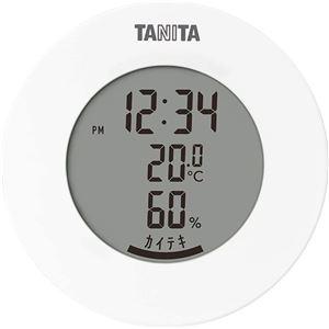 タニタ デジタル 温湿度計 ホワイト TT-585 - 拡大画像