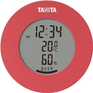 タニタ デジタル 温湿度計 ピンク TT-585 - 拡大画像