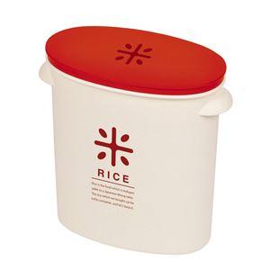 RICE お米袋のままストック 5kg用 レッド (ライスストッカー ライスボックス 米びつ) - 拡大画像