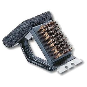 (まとめ)レスト鉄板焼器・アミ用 ブラシトライアングル M-7634 【×3セット】 - 拡大画像