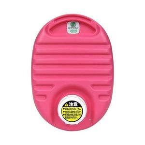 mini 湯たんぽ 【ピンク】 容量750cc フリースカバー付き 耐熱温度:本体約110℃ 携帯可 〔布団 ベッド 屋外観戦〕 - 拡大画像