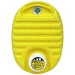 mini 湯たんぽ 【イエロー 3個セット】 容量750cc フリースカバー付き 耐熱温度:本体約110℃ 携帯可 〔布団 ベッド 屋外観戦〕