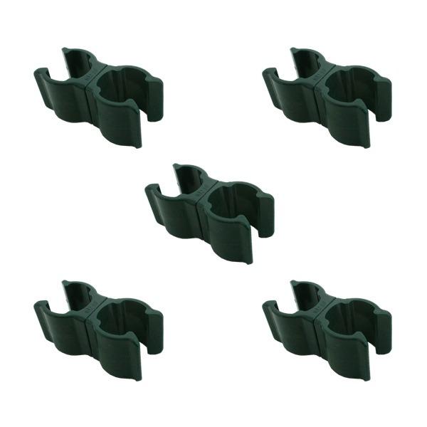 (まとめ)セキスイ ニューガーデンクリップ 20×20mm用 ダークグリーン 5組入 【×3セット】