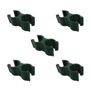 (まとめ)積水樹脂 セキスイ ニューガーデンクリップ 16×20mm用 ダークグリーン 5組入 【×3セット】 - 拡大画像
