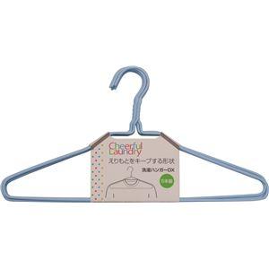 (まとめ)サワフジ Cheerful Laundry 洗濯ハンガー DX ブルー 5本組 LDX-05 【×3セット】 - 拡大画像