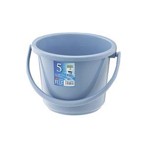 (まとめ)リス ベルク バケツ 5SB ブルー 本体 【×3セット】 - 拡大画像