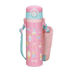 【サーモス/THERMOS】 真空断熱 キッズ 携帯マグ/水筒 【500ml ピンク】 洗える 魔法びん構造 保温・保冷力抜群 ロック機能付き - 拡大画像