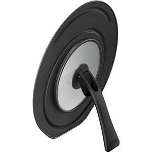 サーモス 折りたたみスタンド式フライパンフタ 20cm・24cm対応 ブラック(BK) KLC-001 - 拡大画像