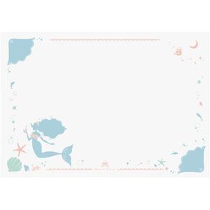 プリント学習デスクマット 【マーメイド】 幅65cm×奥行45cm 日本製 軟質塩ビ製 〔リビング 子供部屋〕 - 拡大画像