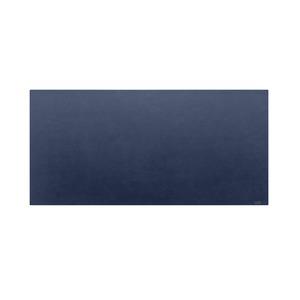 高級PVCレザー デスクマット 【09:ネイビー】 620×300mm カット可 日本製 〔DIY素材 背景 クラフト用品〕