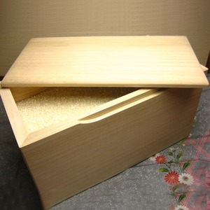 桐の米びつ/ライスストッカー 【10kg用/無地】 泉州留河 日本製