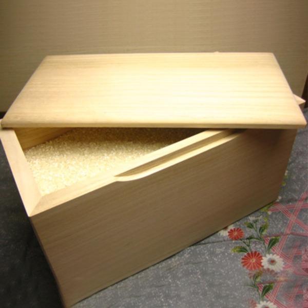 職人が一つ一つ手作りで丁寧に仕込んだライスボックス 米櫃の「桐の米びつ/ライスストッカー 【10kg用/無地】 泉州留河 日本製」