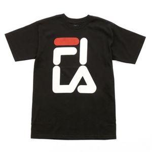 FILA FI OVER LA TEE Tシャツ 001 blackwhite サイズ:M - 拡大画像