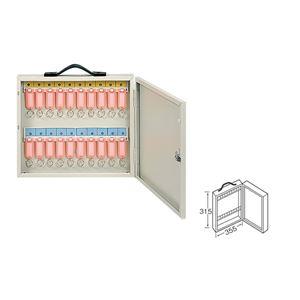 ワールドキーボックス/鍵収納箱 【携帯・壁掛け兼用型/20本掛用】 スチール製 水上金属 K-20