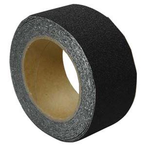 屋外用 滑り止めテープ 【ブラック】 50mm×5m 防滑仕様 『すべらんテープ』 〔ステップ 階段 スロープ〕 - 拡大画像