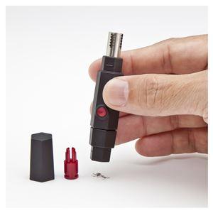 鼻毛カッター/シェーバー 【2セット】 長さ81mm 重さ13g 手動式 携帯式 ステンレス鋼 『GROOMING TOOLS』 〔洗面台〕