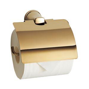 ペーパーホルダー/建築金物 【ペールゴールド】 シンプル 〔業務用 建材 トイレ器具〕 - 拡大画像