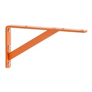 棚受け金具/ブラケット 【S #02 オレンジ】 1組/2本入 スチール製 『Bracket』 〔業務用 建材 建築金物〕 - 拡大画像