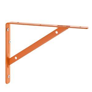 棚受け金具/ブラケット 【L #03 オレンジ】 1組/2本入 スチール製 『Bracket』 〔業務用 建材 建築金物〕 - 拡大画像
