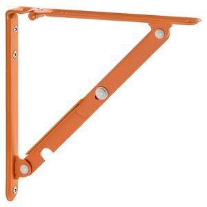 棚受け金具/ブラケット 【S #04 オレンジ】 1組/2本入 スチール製 折りたたみ 『Folding bracket』 〔業務用 建材 建築金物〕 - 拡大画像
