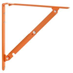 棚受け金具/ブラケット 【L #05 オレンジ】 1組/2本入 スチール製 折りたたみ 『Folding bracket』 〔業務用 建材 建築金物〕 - 拡大画像
