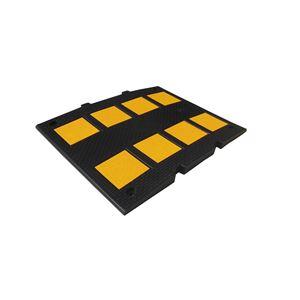 減速くん/減速帯 【TYPE3:衝撃緩和タイプ】 2.8mセット(本体5枚 先端部2枚) 固定用アンカーセット スクリューアンカー