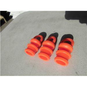 【10個セット】 ソフトコーン用プラスチックチェーンリング 【50mm】 PVC製 - 拡大画像