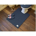 LaidBack トイレマット/トイレ用品 【80×60cm ライトブルー】 デニム生地 洗える すべり止め加工