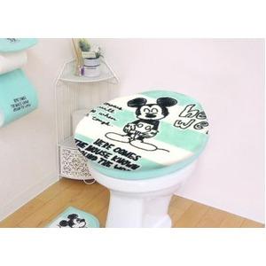 Ciao!ミッキー トイレ蓋カバー/トイレ用品 【UO型用 ブルー】 洗える - 拡大画像
