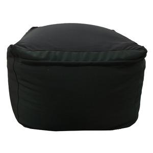 小さめ 人をダメにするクッション ビーズ オットマン / 40×40×40cm ブラック / 1人用ソファー 軽量 カバー取り外し可 - 拡大画像