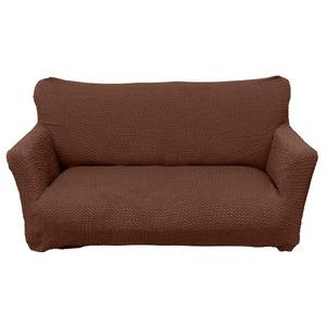 柔らかな触り心地ソファーカバー 【 3人掛け/肘あり ブラウン】 伸縮生地 洗える 『ブレスト』