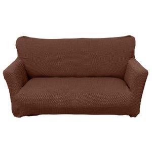 柔らかな触り心地 ソファーカバー / ソファーベッド用 3人掛け 肘なし ブラウン / ストレッチ ソファカバー 洗える 『ブレスト』