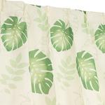 8種類から選べる デザインカーテン ミラーレースセット / 4枚組 4枚セット 100×178cm グリーン / モンステラ柄 洗える 『モンステラ』 九装