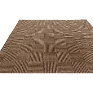 フリーカットができる 抗菌・防臭カーペット/絨毯 【江戸間6畳 261×352cm】 ブラウン 平織り 『チェックモア』