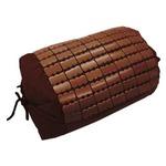 天然素材の涼しさ ひんやり竹枕 【37×25cm/ブラウン】 接触冷感 バンブー枕 『ドミノ枕』 九装
