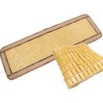 天然素材の涼しさ ひんやり竹シート / メッシュタイプ 40×120cm ブラウン / 接触冷感 バンブーシート 『ドミノメッシュ』 九装