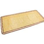 天然素材の涼しさ ひんやり竹シート / メッシュタイプ 40×120cm ナチュラル / 接触冷感 バンブーシート 『ドミノメッシュ』 九装
