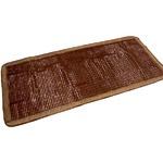 天然素材の涼しさ ひんやり竹シート / メッシュタイプ 80×180cm ブラウン / 接触冷感 バンブーシート 『ドミノメッシュ』 九装