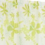 8種類から選べる ボイルレースカーテン / 2枚組 100×198cm グリーン / 柄 物 ボタニカル 『ボイルアイリ』 九装