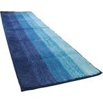 踏み心地のいい カラフル キッチンマット 玄関マット / 45×120cm ブルー / 滑り止め付き 洗える 吸水 『グラデーション』