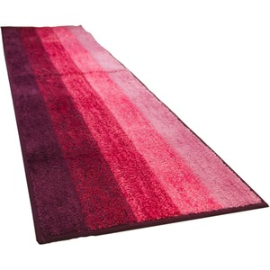 踏み心地のいい カラフル キッチンマット 玄関マット / 45×180cm ピンク / 滑り止め付き 洗える 吸水 『グラデーション』