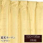 10色から選べる遮光カーテン 2枚組 100×135 ベージュ 無地 シンプル 洗える タッセル付き ペアリー