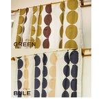遮光カーテン 2枚組 100×178 グリーン 水玉柄 北欧風 洗える アジャスターフック付き タッセル付き ルナリス
