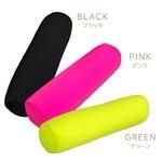ビーズクッション/抱き枕 【ピンク】 直径18cm×60cm 無地 マイクロビーズ ポリウレタン使用 『ビーズムジ』 〔リビング〕