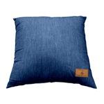 背あてクッション/ソファークッション 【ネイビー】 43cm×43cm 正方形 綿100% デニム地 シリコン綿 『ジーンズ』