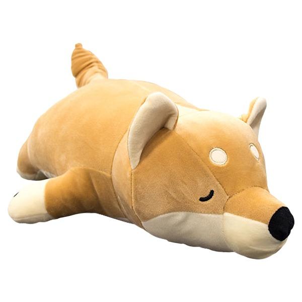 もちもちクッション 豆柴抱き枕 / ベージュ / 32×58cm シリコン綿 洗える 『マメシバダキマクラ』
