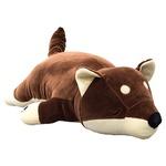 もちもちクッション 豆柴抱き枕 32×58 ブラウン シリコン綿 クッション 抱き枕 マメシバダキマクラ