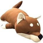 もちもちクッション 豆柴抱き枕 32×58 接触冷感 ブラウン シリコン綿 クッション 抱き枕 ひんやり レイカンマメシバダキマクラ