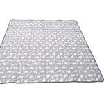 接触冷感 ラグマット/絨毯 【185cm×240cm グレー】 白くま柄 洗える 防音効果 『冷感白くま』 〔リビング〕