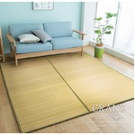 竹ラグ 180×180 ナチュラル 2つ折りタイプ ラグマット クランツ